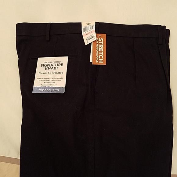 3ed6dc4d Dockers Pants | Nwt Mens Black | Poshmark